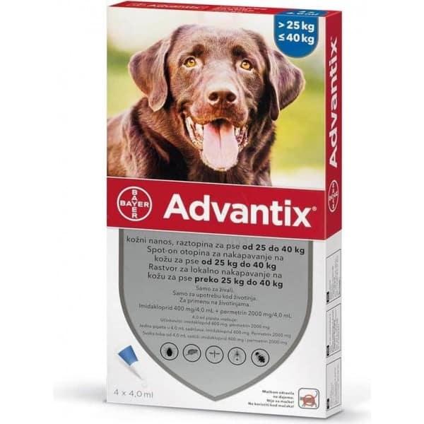 advantix za pse protiv krpelja od 25 do 40kg